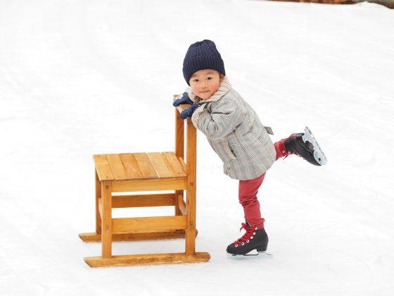 椅子でスケート