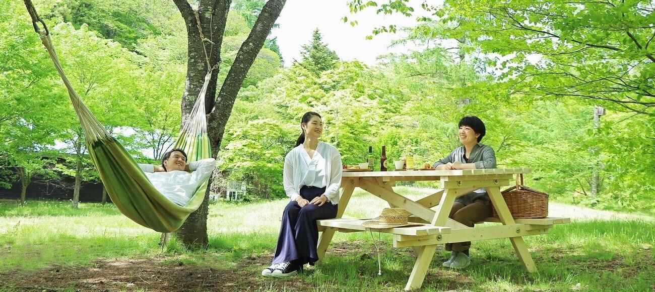 のびのびピクニック木陰のハンモック